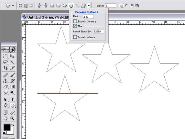 making an American Flag shaped star