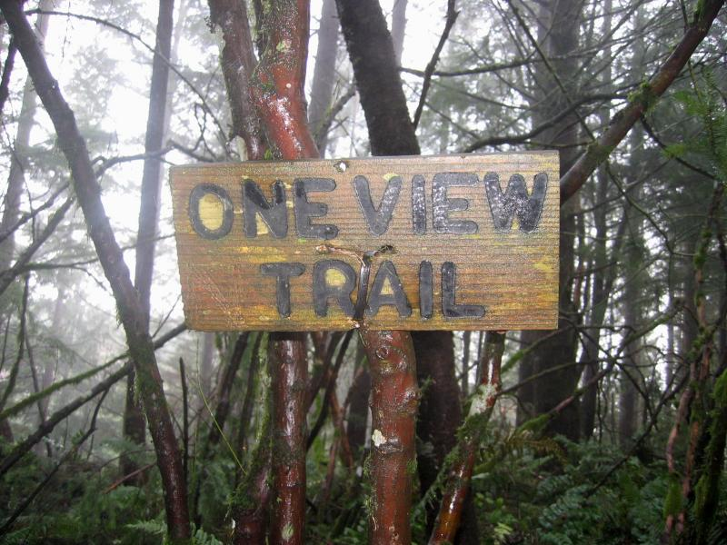 One View Trail sign still intact