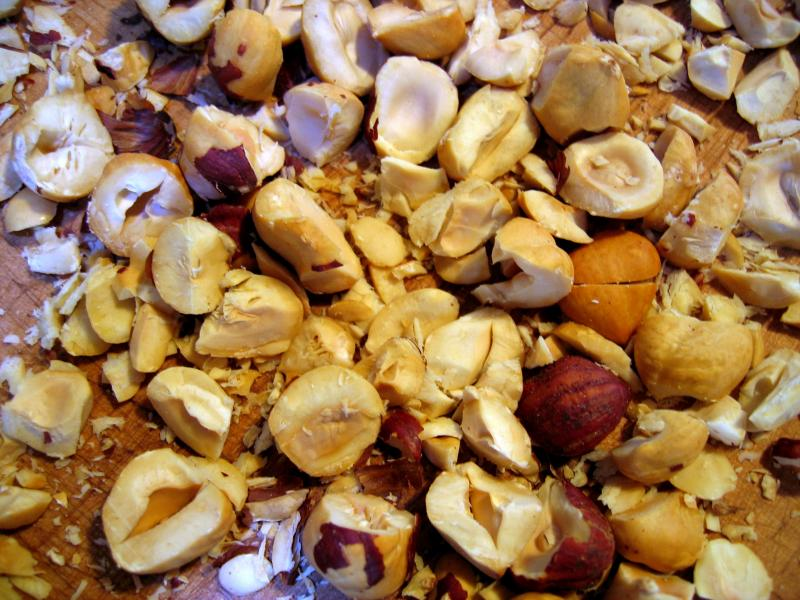 Hazelnuts, coarsely chopped
