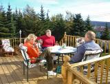 On Pat and Sandra's Deck in Dunville, Thanksgiving weekend, 2004