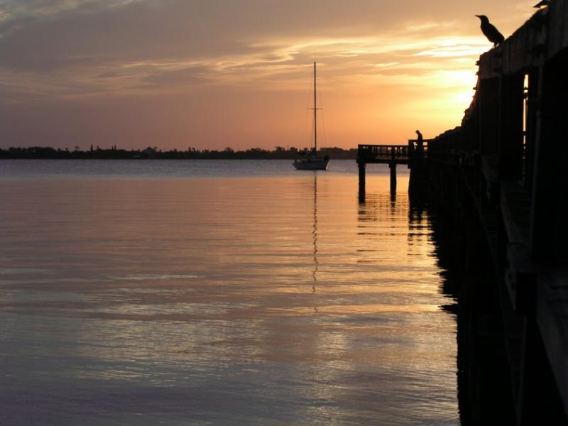 Eau Gallie Pier in the morning, Melbourne, Florida