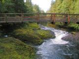 Footbridge across Rainbow Falls (not the Rainier ones)