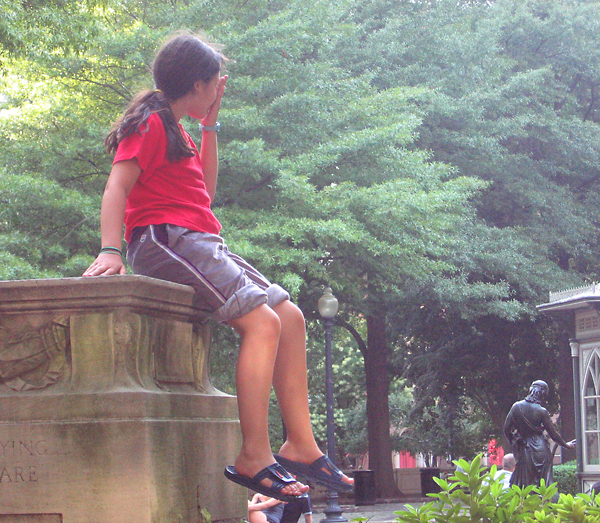Child in The City Park