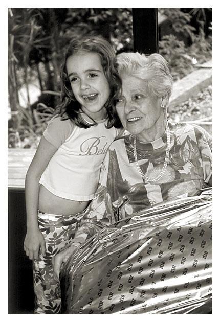Minha Mãe e Heleninha - Natal 2003