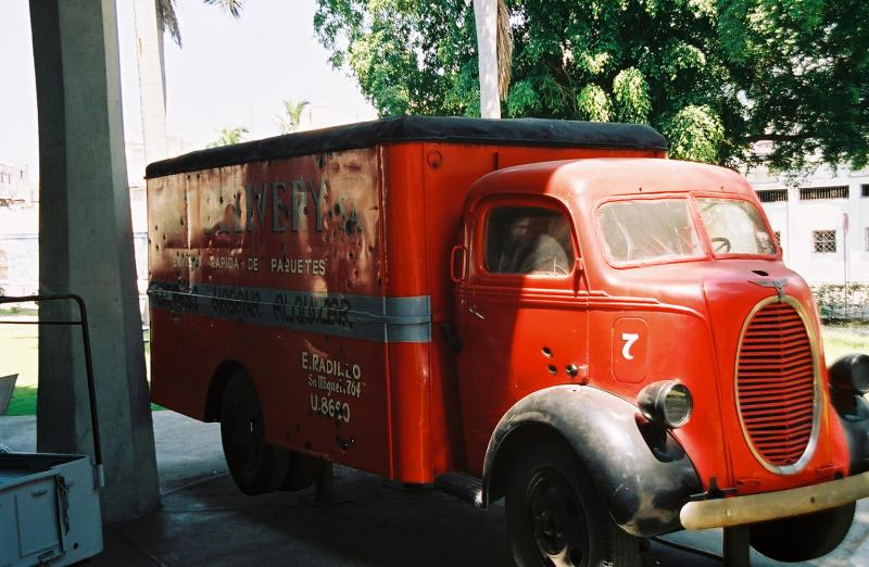 Truck used in the Revolution notice the bullet holes