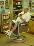 barber Bill waiting for a customer