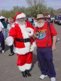 Santa and Bob Myers
