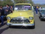 yellow pickup truck