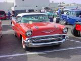 red & white 57 Chevy
