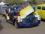 blue & yellow 1952 GMC