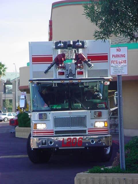 fire truck in Mesa Arizona