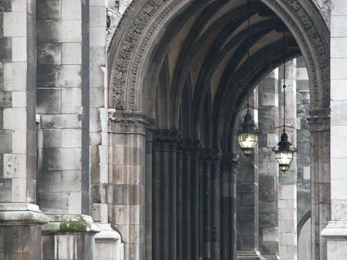 The Parliament, north side archway.