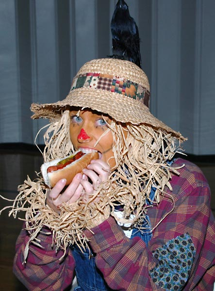 Didnt know scarecrows liked hotdogs!
