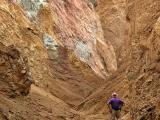 Hiking a canyon