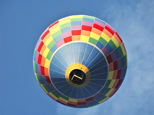 Balloon from below