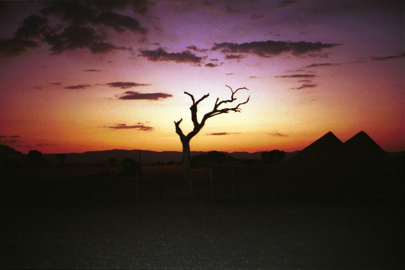 Sunset in the desert Sossuvlei camp