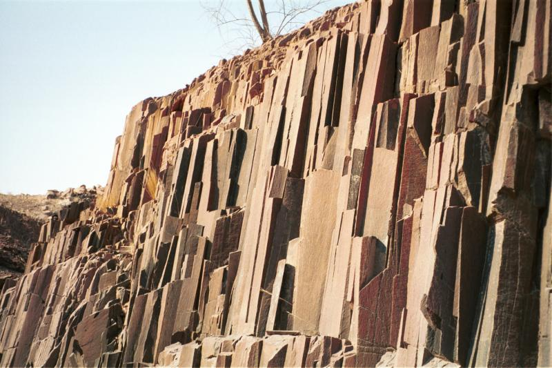Organ pipes rock formation
