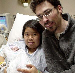 Chris ( glivec10-02) & Rosalina  with Abram -Oct22-04.
