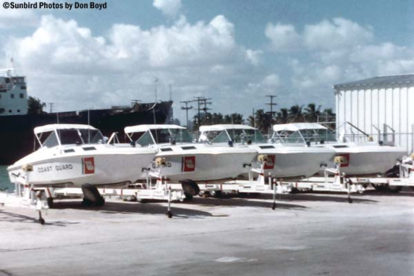 1973 - Presidential security Magnum Marine go fast boats - Coast Guard stock photo