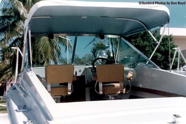 1973 - Cabin of Presidential security go fast boat - Coast Guard stock photo
