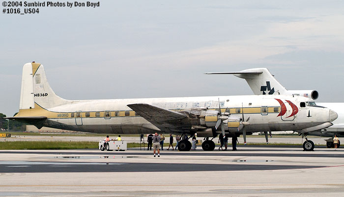Legendary Airliners DC-7B N836D aviation aircraft stock photo #1016