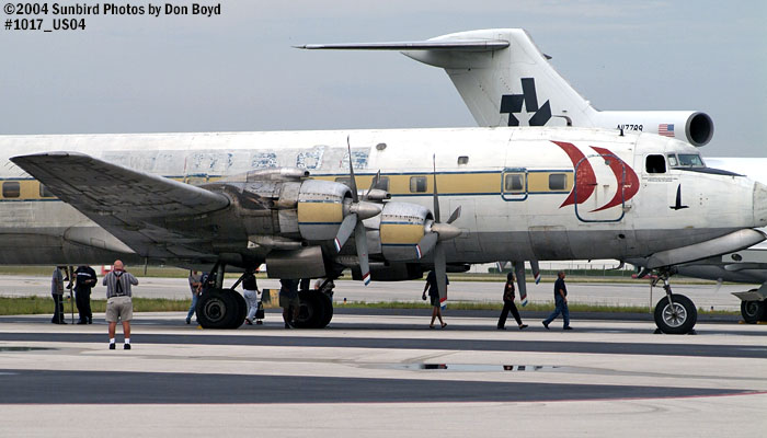 Legendary Airliners (ex-Eastern) DC-7B N836D aviation aircraft stock photo #1017