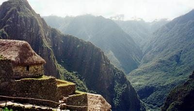 Entryway to the old city of Machu Picchu
