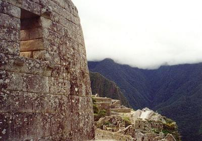 Exterior of The Temple of the Sun. &nbsp; The first building<br>Hiram Bingham saw in 1911