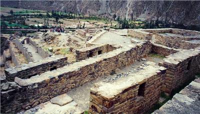 Foundations of fortress / temple near top