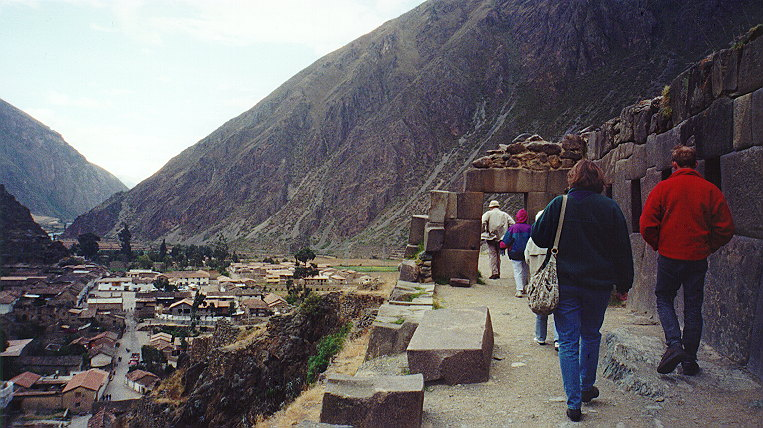 Ollantaytambo: near top.  Were walking toward a portal.
