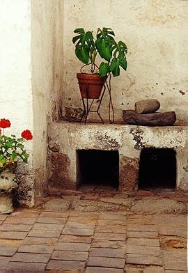 Many nuns homes had private courtyards.