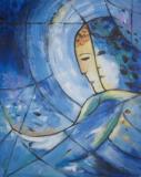 Hommage à Chagall Leinwand 50x60 Acryl