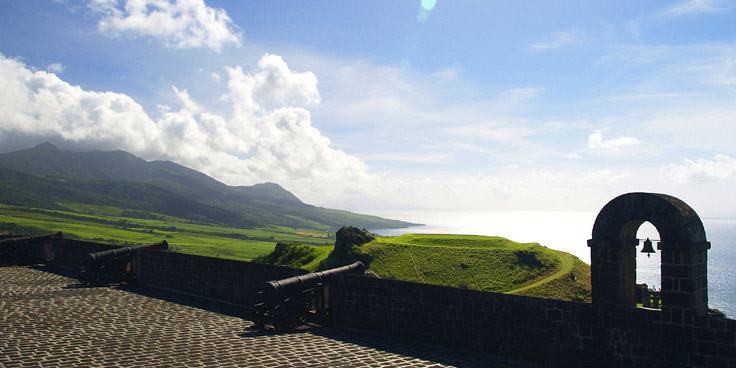 View From Fort St Kitts