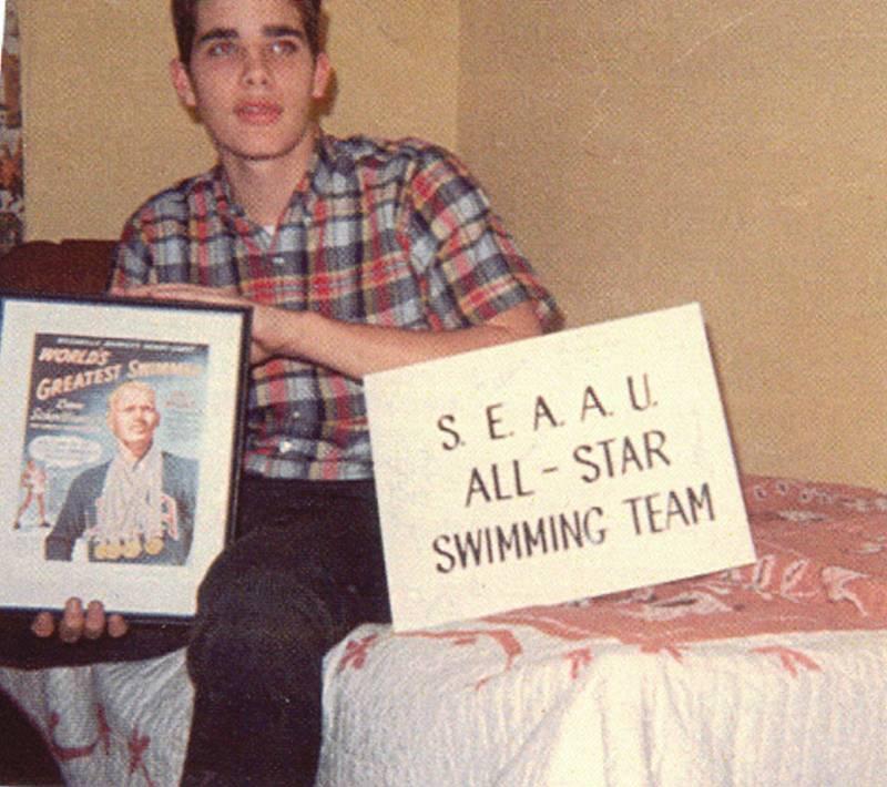 Jim Leonard of the State Champions and stat champion Hillsboro Burros swimteam