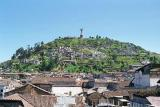View of El Panecillo and the Virgin of Quito from Old Town