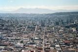 View of Old Town from El Panecillo and the Virgin of Quito