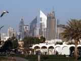 Sheikh Zayed Road skyscrapers from Safa Park