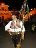 Tea seller in front of the Lebanese Pavilion