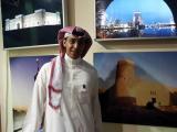 Tourism representative at the Saudi Pavilion (must be an easy job)
