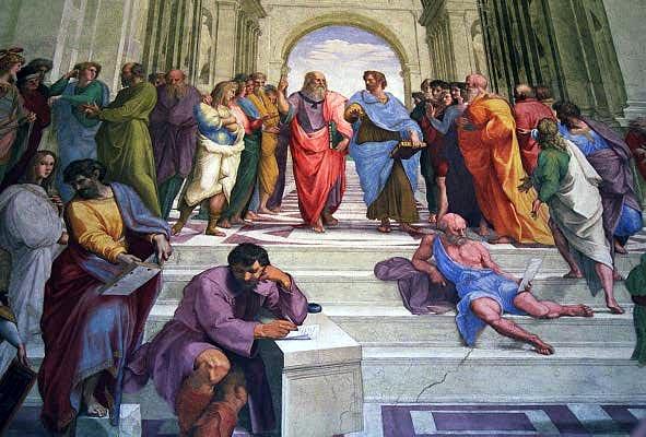 School of Athens - Rafael (150901510) Stanza della Segnatura, Vatican