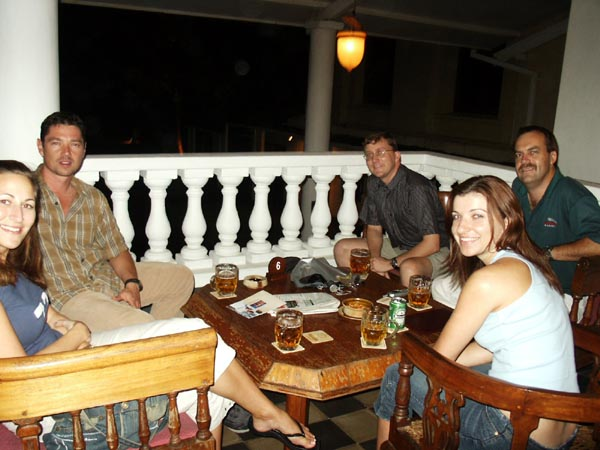 The crew at the Galle Face Hotel