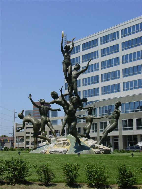 Musica Statue on Roundabout in Nashville