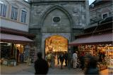 Covered market entrance