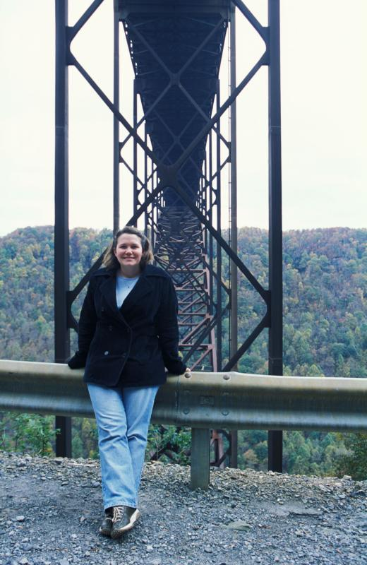 Emily at The New River Gorge Bridge