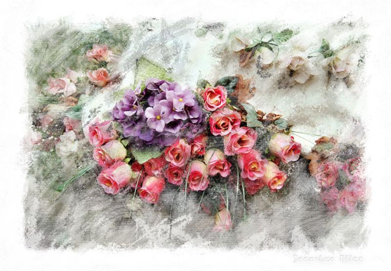 Painting around roses
