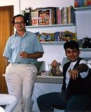 Tony seated and Me: early nineties decade