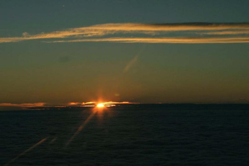 Sunset from 5,000 feet