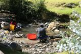 Laundry on the stream