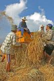 harvesting machine (thresher) close up