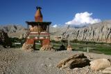 A chorten at the entrance to Charang